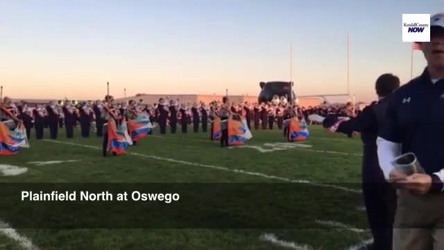 Oswego football takes the field vs Plainfield North