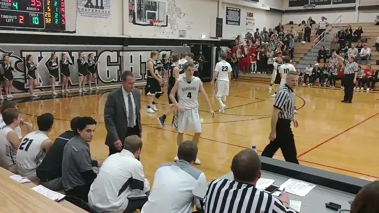 The Knights final possession, on which they make a FT.
