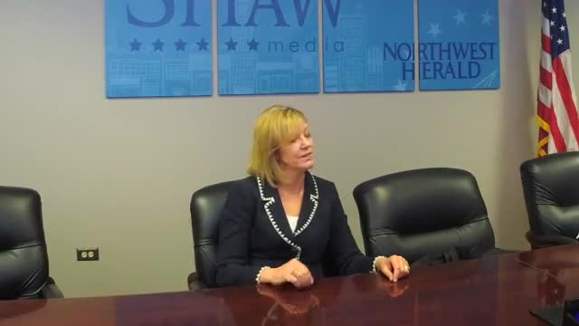 Rep. Jeanne Ives, who is challenging Gov. Bruce Rauner in the republican primary, met with the Northwest Herald editorial board and reporters on Monday, Feb. 19, in Crystal Lake.