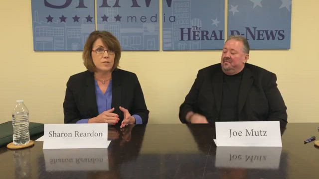 We're hosting a debate with Joliet City Council District 3 candidates Joe Mutz and Sharon Reardon. District 3 is the city's furthest west district.