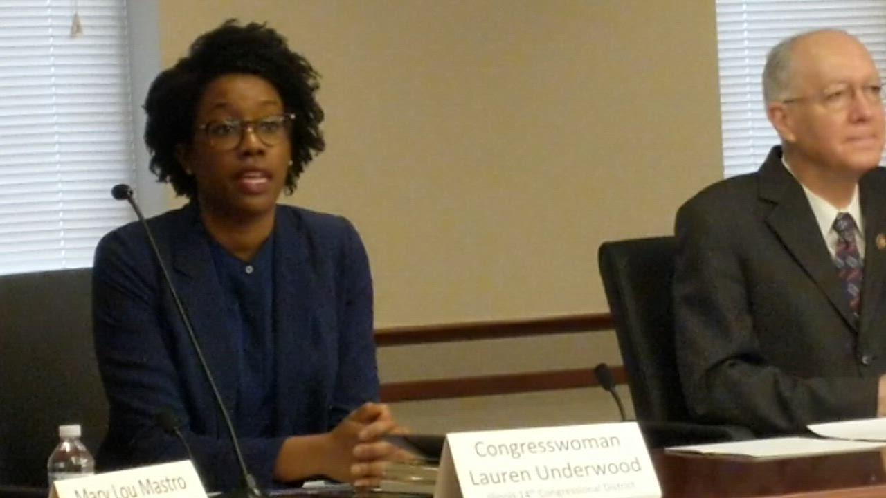 U.S. Rep. Lauren Underwood, D-Naperville, was part of a roundtable discussion March 16 at Edward Hospital in Naperville about the COVID-19 outbreak.