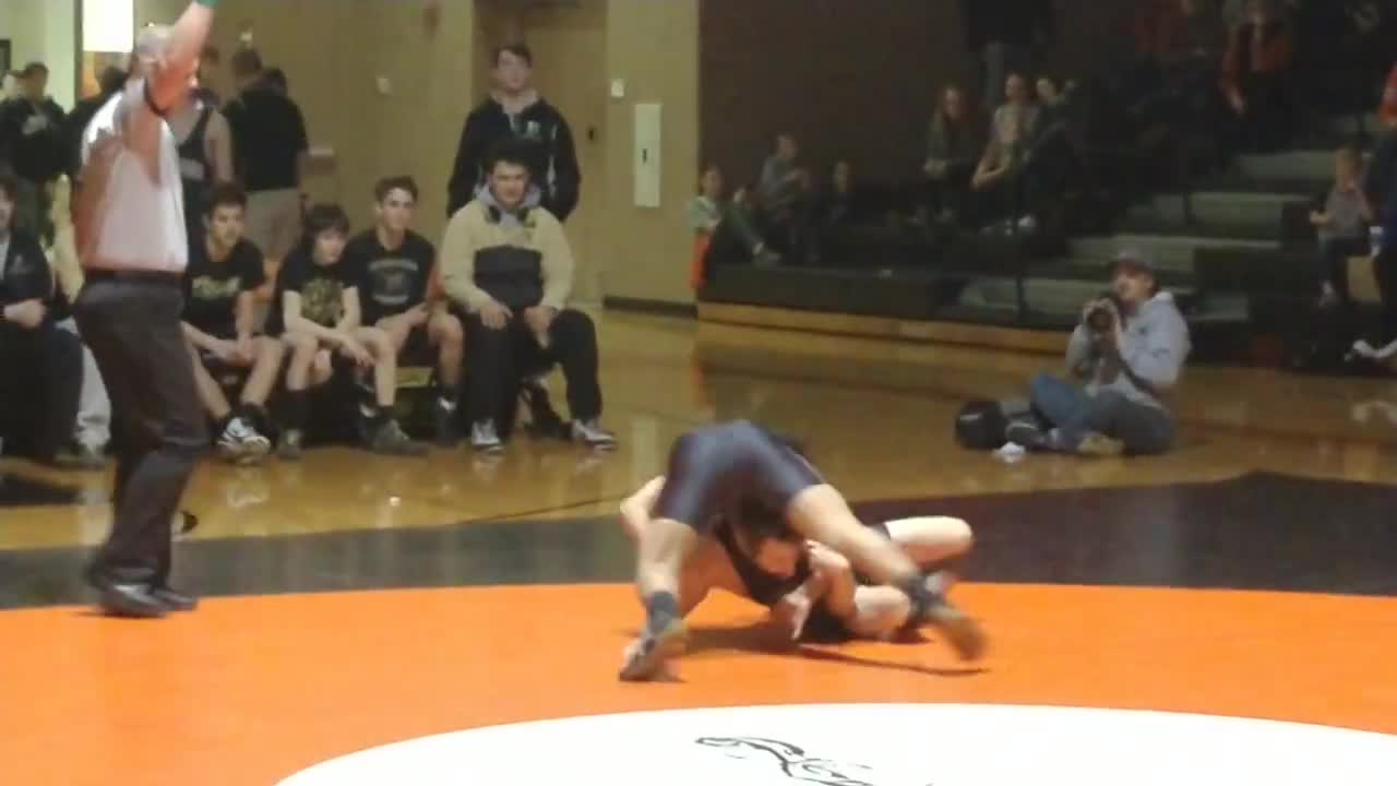 Two of Lopez's eight first period takedowns