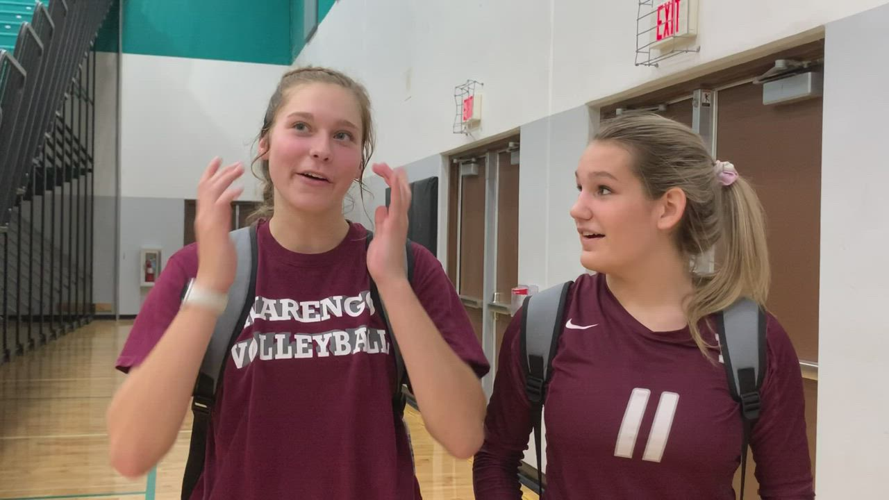 Simons and Jeschke talk about the Indians' 25-18, 21-25, 26-24 KRC win over Woodstock North.