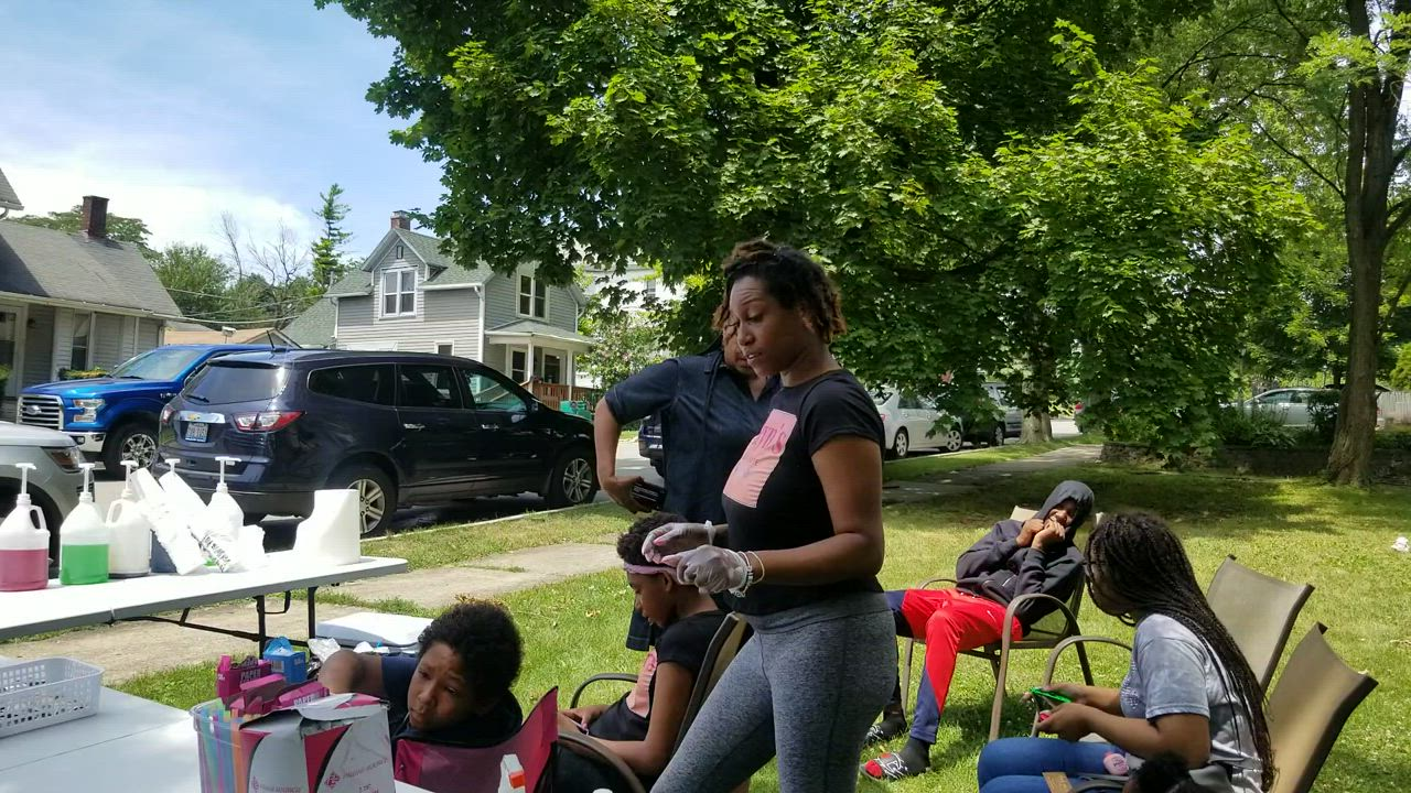 Shardae Whitaker of Joliet shares her struggles to help her kids start an outdoor snack shop at their house.