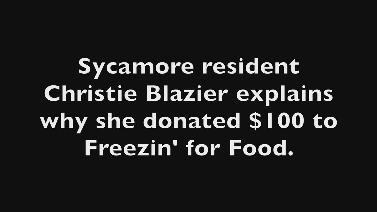 Christie Brazier talks with WLBK Radio host TD Ryan about why she donated to the Freezin' for Food drive.