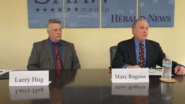 We're hosting a live debate with Joliet City Council District 1 candidates Marc Ragusa and Larry Hug. District 1 includes most of the west side of Joliet, including Louis Joliet mall.