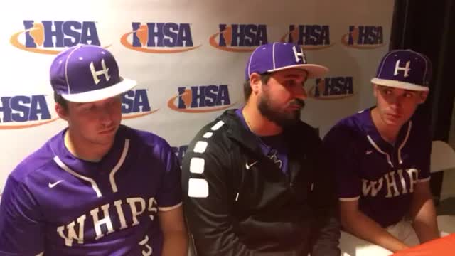 Hampshire baseball team's postgame news conference after its 2-0 loss to Edwardsville.