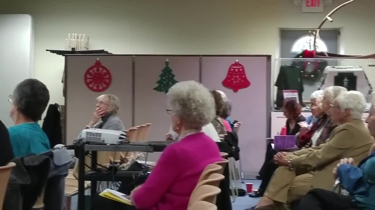 "Glen Ellyn Village Manager Mark Franz on Nov. 7 speaks to members of the Glen Ellyn Woman's Club on the topic of ""What's Happening In Our Village."" Franz updated club members on various developments and projects in the village."