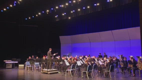"The Oswego East High School Wind Ensemble performed ""Felix Navidad"" during the annual Winter Concert, Dec. 3."