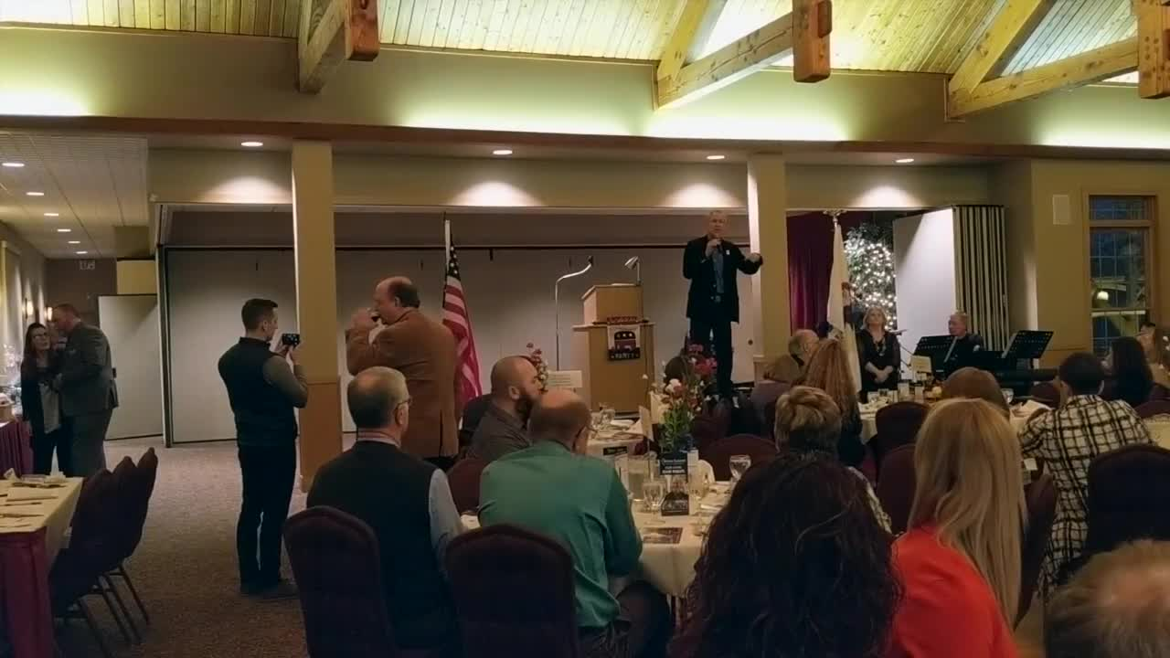 Gov. Bruce Rauner stopped in the Sauk Valley to speak at the Whiteside County Republicans' annual Lincoln Day Dinner Friday, March 9, 2018.