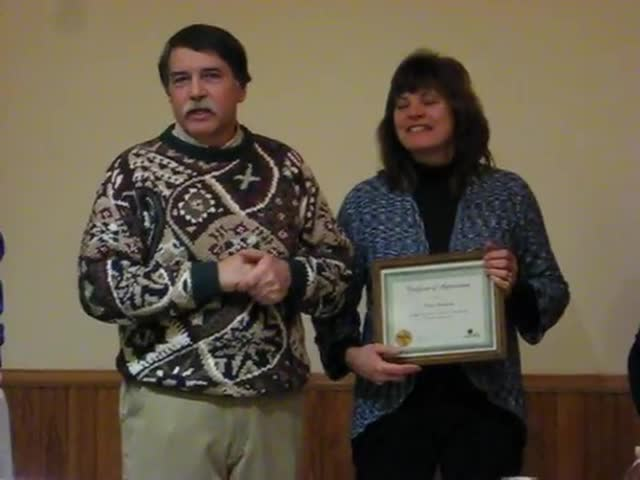Neal Anderson is receives the first Outstanding Citizen Award in Campton Hills