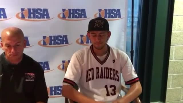 Huntley beats Lake Park, 5-1, in the ‪Class 4A Baseball State Tournament semifinals. Here is the postgame news conference with Kamrin Hoffmann, Jordan Goldstein, coach Andy Jakubowski and Kyle Morgan.