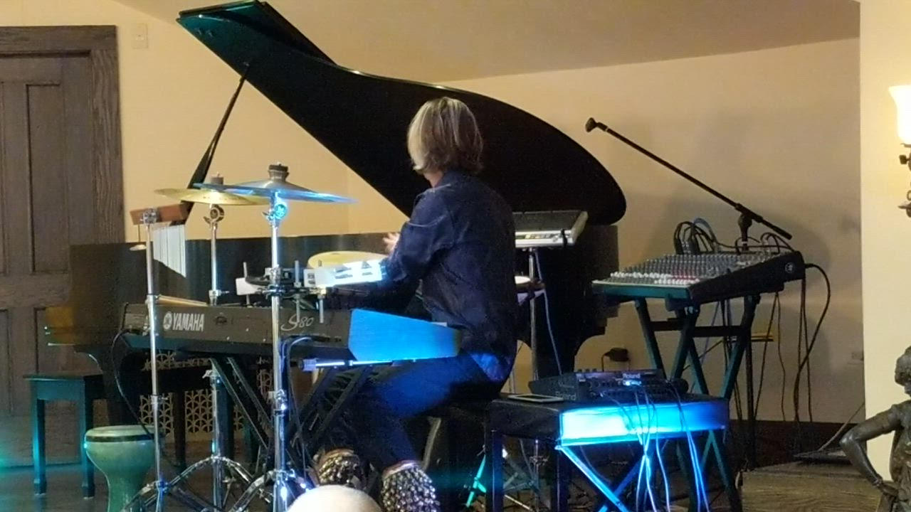 Mannheim Steamroller drummer Tom Sharpe, of Oswego, performs Oct. 13 at the St. Charles Public Library as part of the library's Sunday concert series.