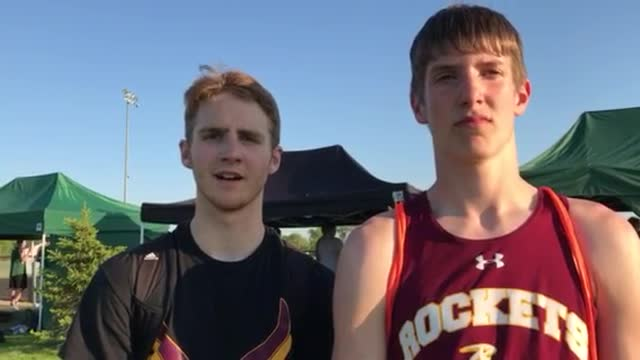 The Rockets' teammates qualify in triple jump at the ‪Class 2A Richmond-Burton Boys T&F Sectional.