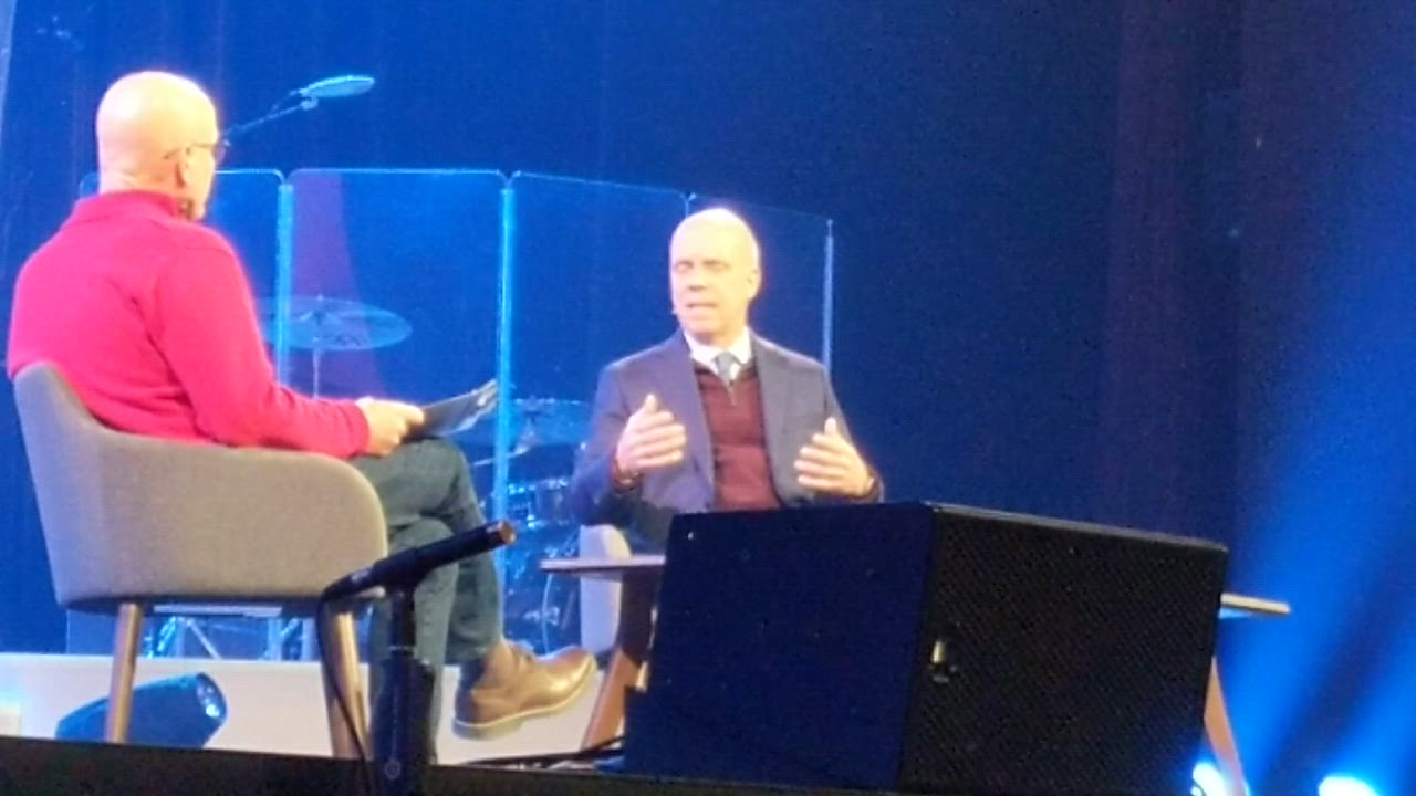 In an interview with Christ Community Church Senior Pastor Jim Nicodem, figure skating legend Scott Hamilton talked about his life on and off the ice during his appearance at the church on Feb. 9.