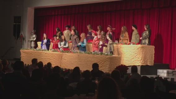 Yorkville High School celebrated the holidays with the annual Madrigals dinner Sunday, Dec. 8.