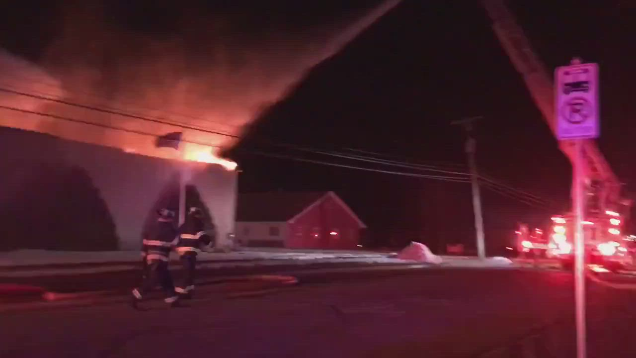 Breaking: A fire has broken out at the Standard Roofing Company in DeKalb