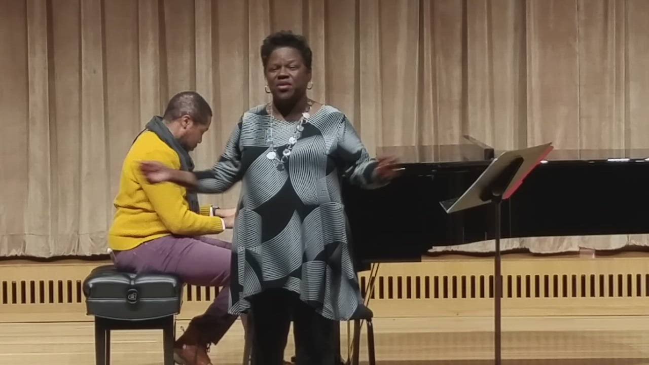 "Wheaton College gospel choir director Tanya Egler performs on Feb. 2 as part of the ""Centered in Song"" conference, co-sponsored by the Wheaton College Conservatory of Music and The Center for Congregational Song."