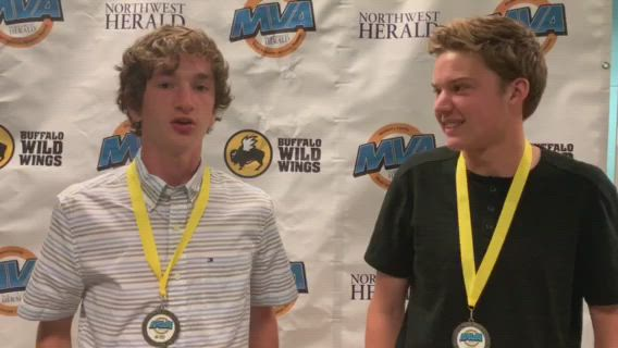 Prairie Ridge's Max Kueller and Jared Arkell were named Northwest Herald Boys Tennis Players of the Year.