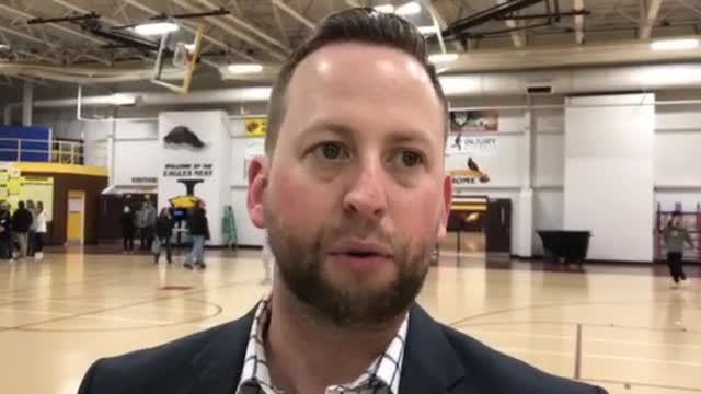 McCloud talks about the Trojans winning the Hinkle Holiday Classic.