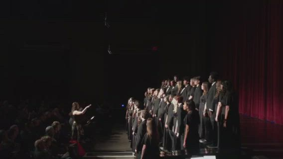 "A Capella Choir students perform ""There is No Rose"" during the annual Oswego East High School Winter Concert Tuesday, Dec. 3."