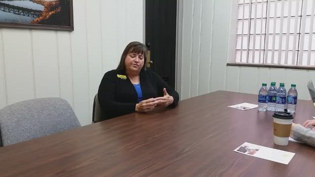 The Times and Morris Herald News editors met with Heidi Henry, Democratic candidate of the 38th District