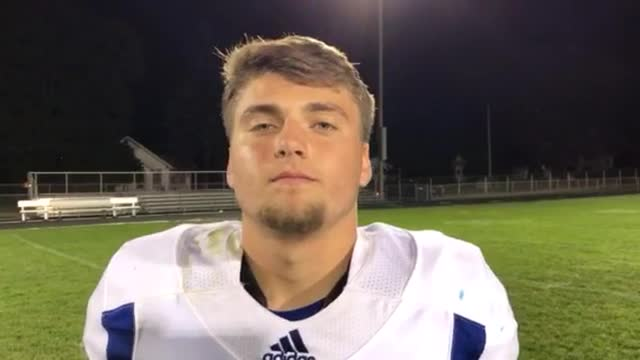 Lichtenstein talks about the Skyhawks' 51-17 victory over Woodstock, and his one-handed catch.