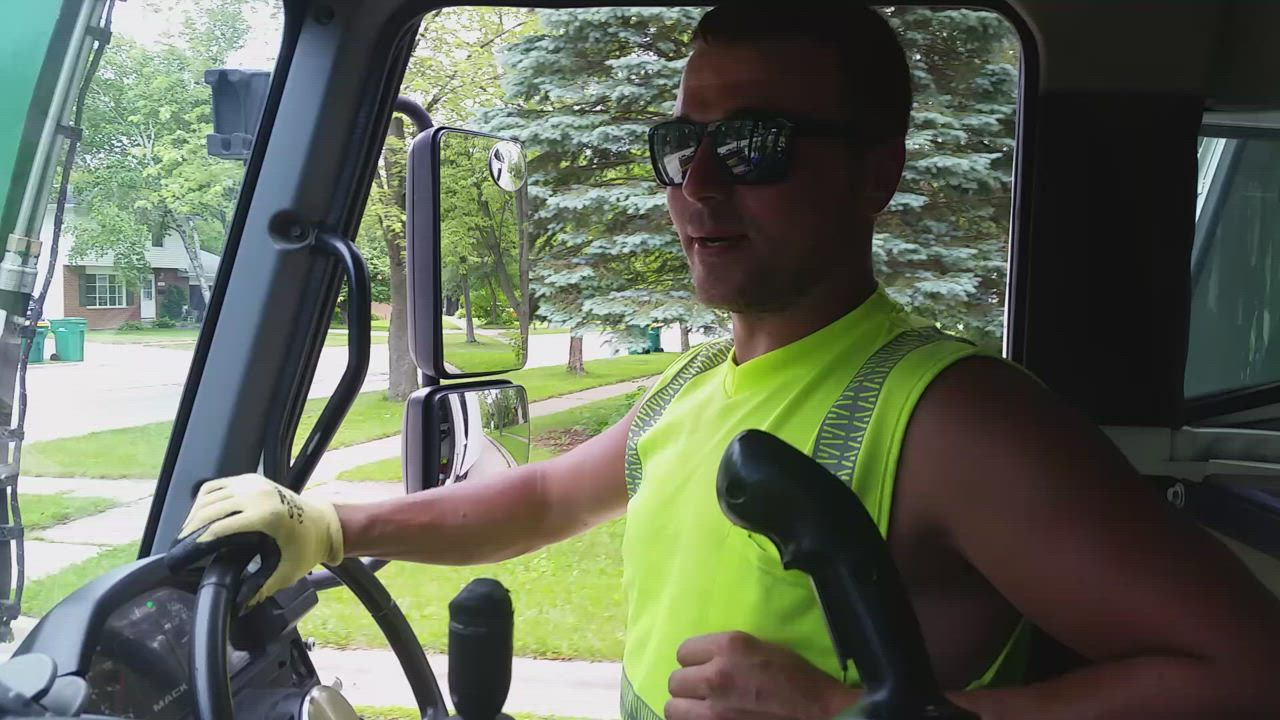 Jordan Jackowiak talks about Waste Management's soon-to-expire contract and a pending vote from DeKalb City Council to keep the company as its solid waste collector during a ridealong June 20, 2018.