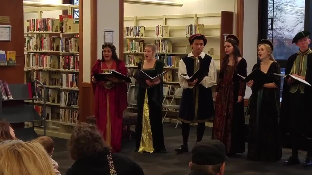 The Glenbard South Madrigal Singers perform Nov. 24 as part of the Glen Ellyn Public Library Holiday Walk.