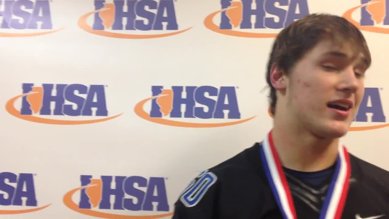 Herald-News Defensive Player of the Year Devin O'Rourke discusses Lincoln-Way East state championship.