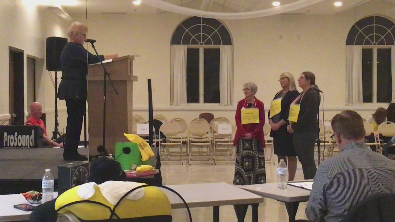 The Hope Haven and Sycamore High School National Honors Society teams vie for first place in the 19th Annual DeKalb County Community Spelling Bee on Thursday. The event was hosted by Altrusa International of DeKalb/Sycamore and Daily Chronicle.