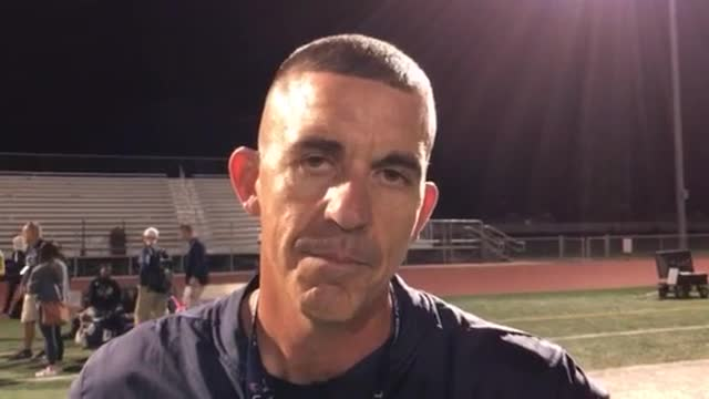 Seaburg talks about the Trojans' 35-20 win over Huntley.