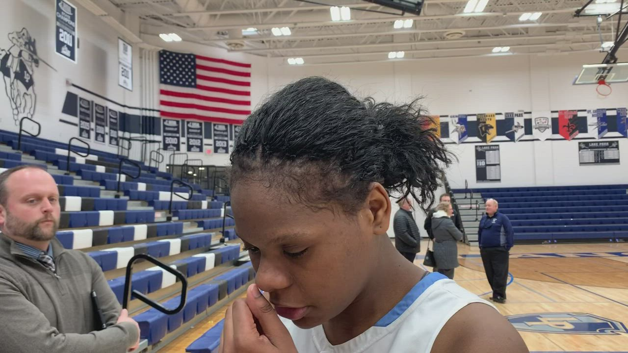 Our postgame conversation with Lake Park star Darrione Rogers following the Lancers 66-61 loss to Geneva on Feb. 11.
