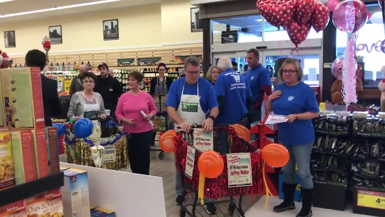 The Kane County Farm Bureau and the Northern Illinois Food Bank hosted the 17th Annual Food Check-Out Challenge featuring Elburn Village President Jeff Walter