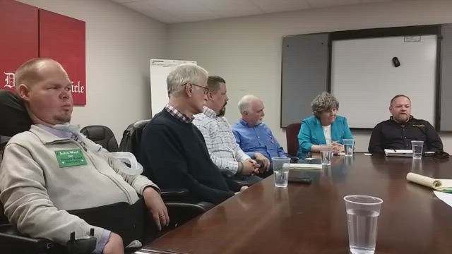 DeKalb County Board Candidates John Wett, Jim Luebke, Nate Johnson, Dave Rathke, Dianne Liefheit and Larry West meet with our editorial board.