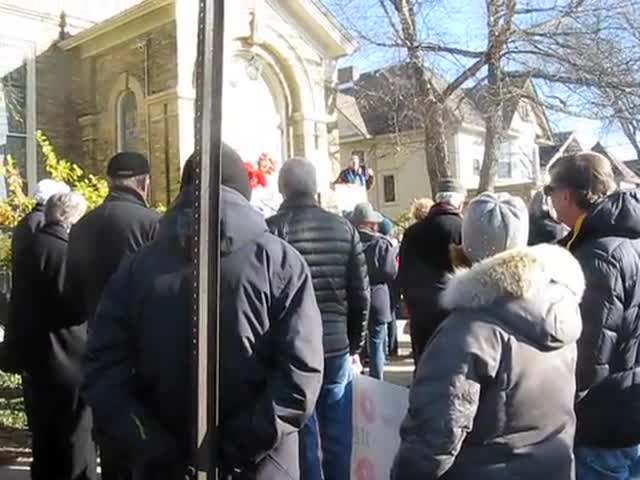 About 300 people came out to support an LGBT-welcoming church in Geneva that was targeted by anti-gay activists