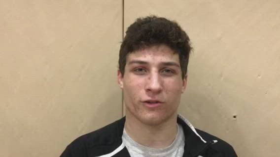 Ferrante had a pin in Huntley's sectional victory against Prospect. Huntley advances to dual team state for the first time ever.