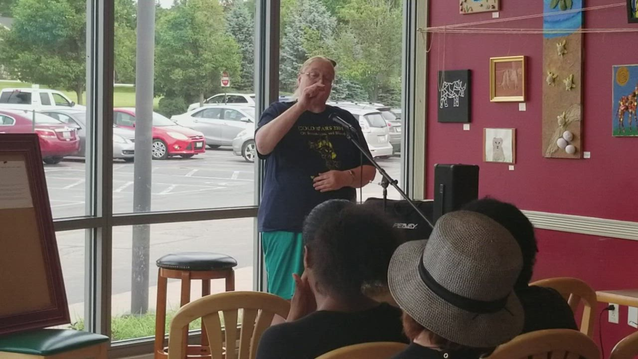 This was the third event in a series of live storytelling. On June 28, Colleen Robbins of Joliet shared a true story about how an incident that happened when she was 9 affected the rest of her life.