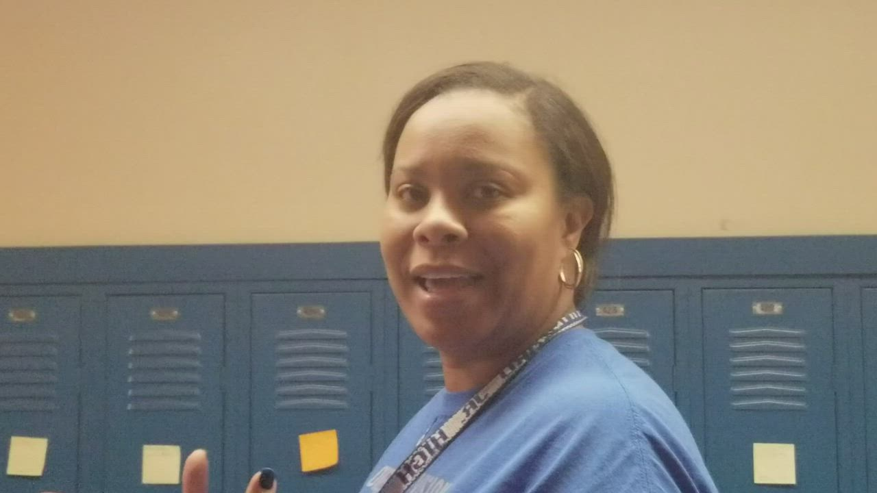 Hufford Junior High School assistant principal Shavon Pittman explains a key role teachers at her school play.