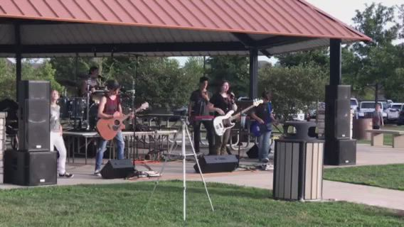 "Geneva band SM6 covers Bruno Mars' hit ""Lazy Song"" during the Oswegoland Park District's ""Concert in the Park,"" Thursday evening."