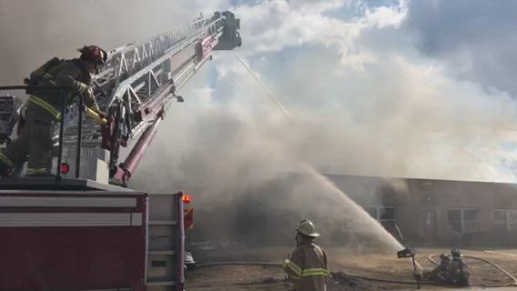 A fire broke out at 6207 Commercial Road at about 3pm on Monday, March 18, 2019 in Crystal Lake.
