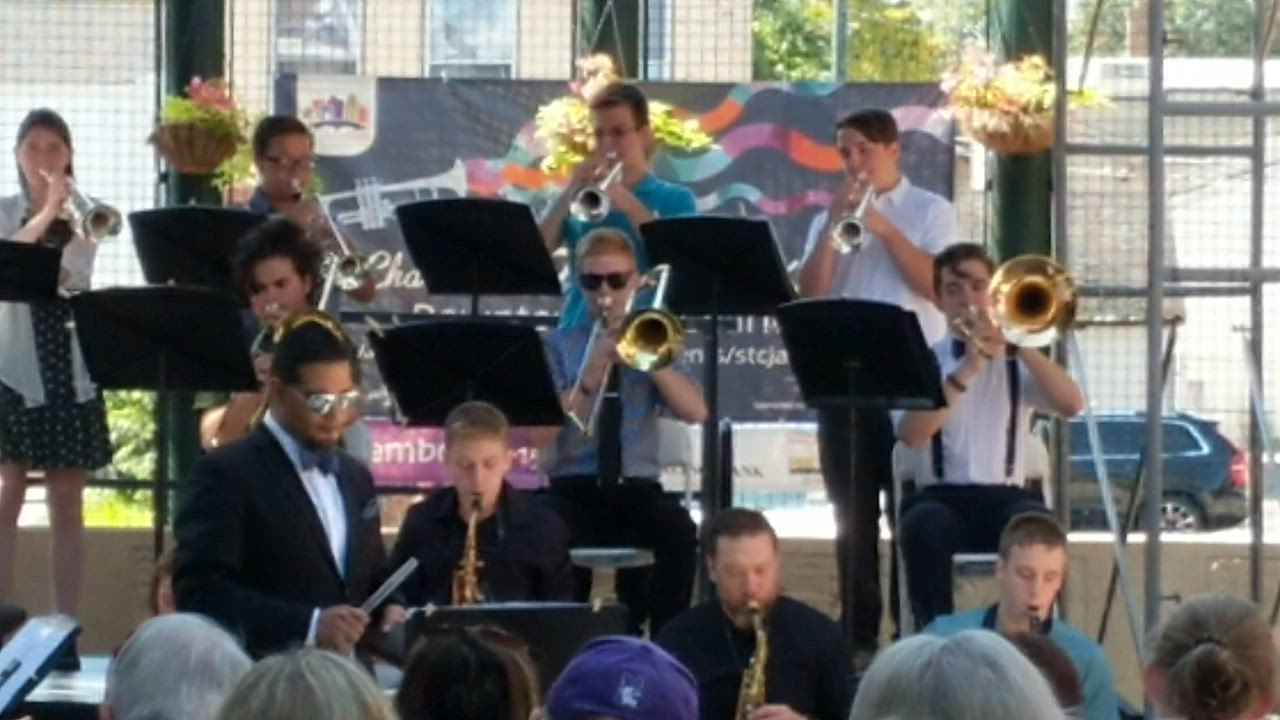 Grammy-nominated musician Victor Garcia performs with the St. Charles North Jazz Ensemble on Sept. 14 as part of St. Charles Jazz Weekend, organized by the St. Charles Business Alliance.