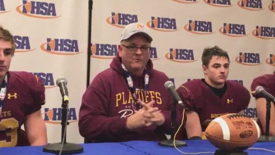 R-B coach Mike Noll and his players talk about their 4A state championship victory.