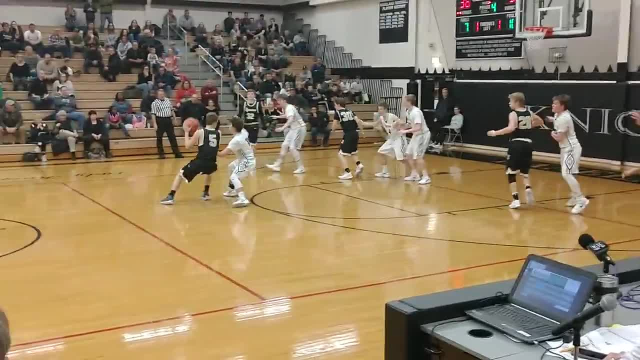 Sycamore's final possession, with Cook missing a layup