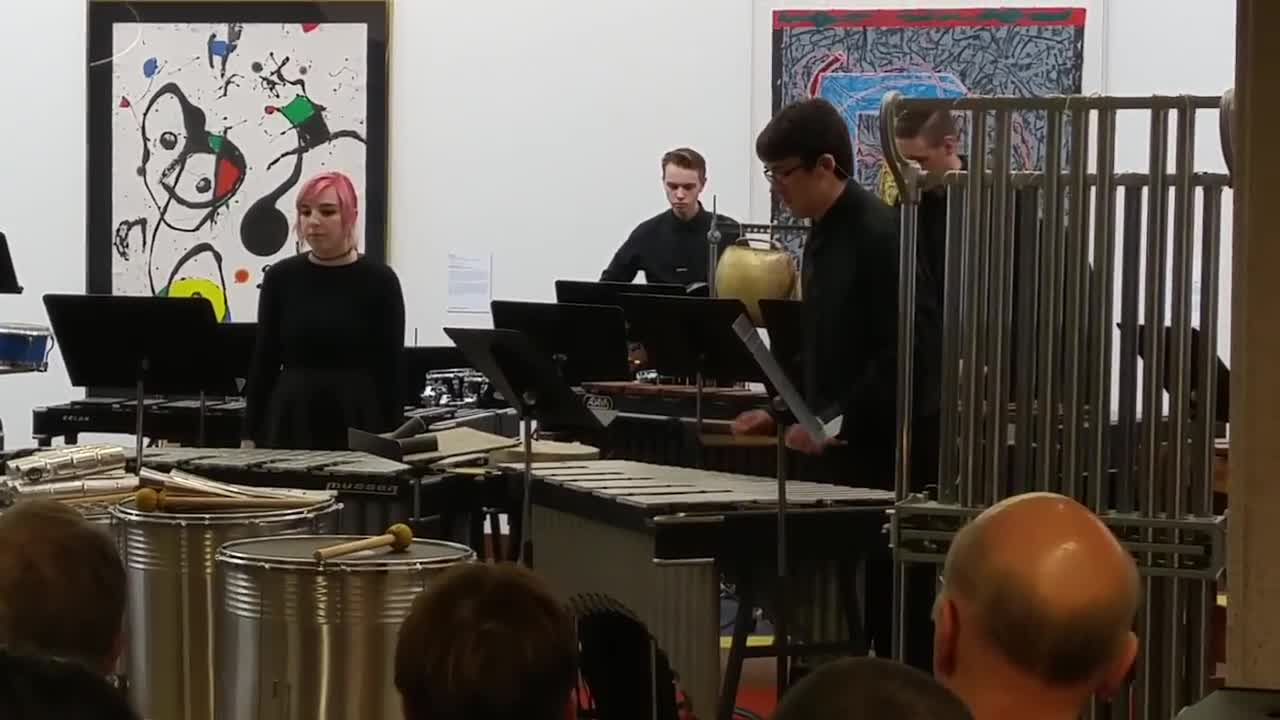 The College of DuPage Percussion Ensemble, under the direction of Ben Wahlund, performs Oct. 27 in the McAninch Arts Center at College of DuPage