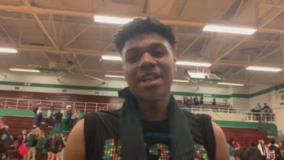 Ugochukwu talks about the Whip-Purs' 62-59 sectional semifinal win over Boylan.