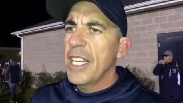 Seaburg talks about the Trojans' 55-41 victory over Naperville Central.