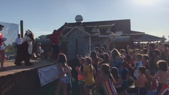Yorkville School District 115 students enjoyed raffles and giveaways during the first Back to School Splash at Raging Waves Waterpark, Friday, Aug. 9.