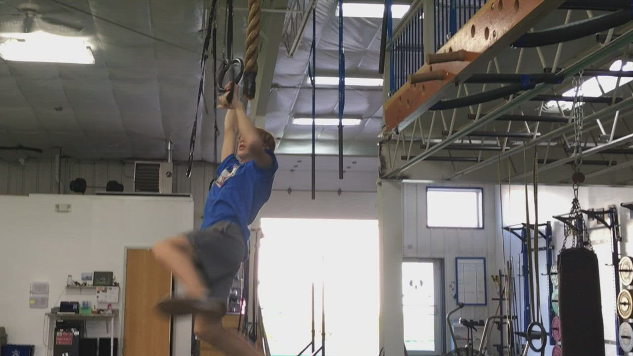 Sycamore Middle School student and Sycamore resident Daniel Martin, 12, runs a couple of courses that he used to train for the TV show American Ninja Warrior Junior, which airs 7 p.m. Oct. 13 on Universal Kids.