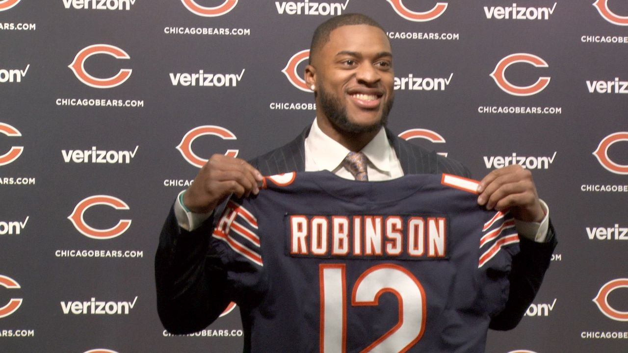 The five players the Chicago Bears introduced on Thursday – Allen Robinson, Trey Burton, Taylor Gabriel, Cody Parkey and Chase Daniel – all are – with the exception of Daniel – extremely young veterans who've already displayed significant production, real promise and high to very high ceilings, and were strategically added to fit a clear and exciting plan on offense. Bob LeGere and Hub Arkush have the report from Halas Hall in Lake Forest, IL.